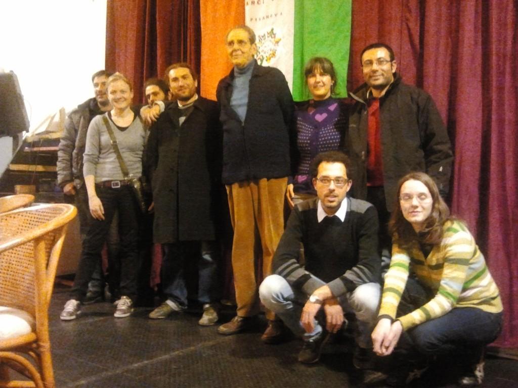 Giorgio in occasione di una delle iniziative proposte dall'ANPI al Circolo e precisamente quella del 26 Gennaio del 2012.